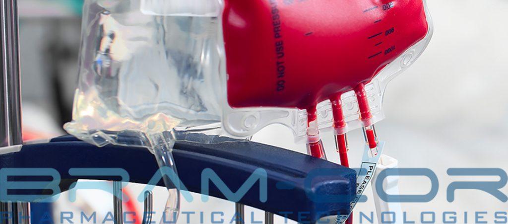 blood bags inside hospital room